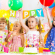 Stock fotografie: Group of kids at birthday party