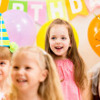 Pretty children on birthday party — Foto Stock