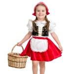 Kid girl in carnival costume Red Hood — Stock Photo #35546531