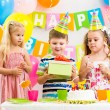 Group of kids at birthday party — Stock Photo #35953005