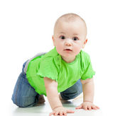Funny baby crawling — Photo