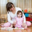 Mom and kid play together — Stock Photo