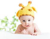 Funny infant baby boy — Stock Photo