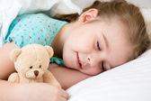 Kid girl sleeping — Stock Photo