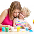 Mother and kid girl play together — Stock Photo #40797651