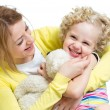 Mother and kid girl having fun — Stock Photo #41250339