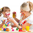 Mother and kid paint — Stock Photo #41250413