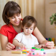 Mother and kid at home — Stock Photo #41966063