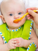 Baby feeding up — Stock Photo