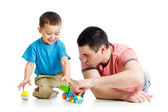 Dad and son playing together — Stock Photo