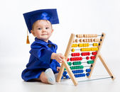 Early learning baby — Stock Photo