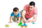 Father and son playing together — Stock Photo
