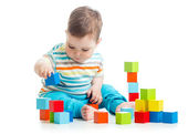 Baby building block toys — Stock Photo