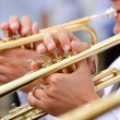 Stock Photo: Trumpet theme