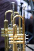 Trumpet background — Stock Photo