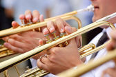 Trumpet theme — Stock Photo