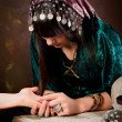 Stock Photo: Palmistry hand-reading