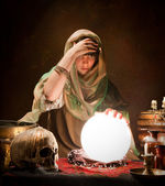 Crystal ball gypsy — Stock Photo