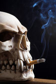 Smoking death — Stock Photo