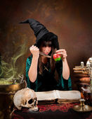 Poison apple witch — Stock Photo