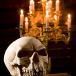 Skull in chapel — Stock Photo