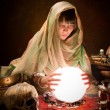 Stock Photo: Astrology gypsy with crystal ball
