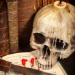 Halloween book and skull 3 — Stock Photo #12860865