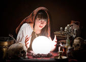 Fortune-teller predicting the future — Stock Photo