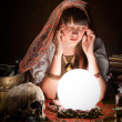 Stock Photo: Fortuneteller with crystal ball