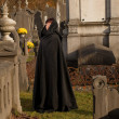 Stock Photo: Widow in black cape