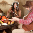 Thanksgiving indian — Stock Photo
