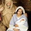 Nativity family — Stock Photo
