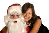 Loving santa — Stock Photo