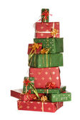 Stack of christmas presents — Stock Photo