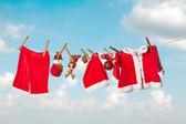 Santa laundry — Stock Photo