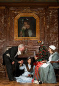 Victorian christmas scene — Stock Photo