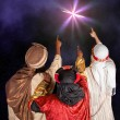 Stock Photo: Wisemen following star