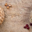Walnuts and cranberries - Stock Photo