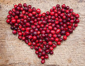 Cranberry heart — Stock Photo