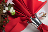 Festive table in red and white 10 — Stock Photo