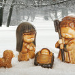 Winter crib - Stock Photo