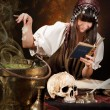 Witch and poison soup — Stock Photo