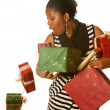 Oops! falling christmas presents — Stock Photo #13480684
