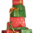 Stacked christmas gifts — Stock Photo #13481328
