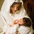Holy mother with Christmas — Stock Photo #13485704