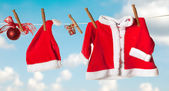 Santa jacket and hat — Stock Photo