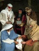 Wisemen Christmas scene — Photo