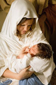 Holy mother with Christmas — Stock Photo