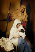 Christmas nativity live scene — Stock Photo