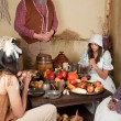 Thanksgiving pilgrims — Stockfoto